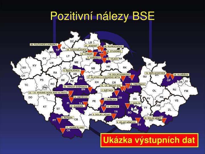 Pozitivní nálezy BSE