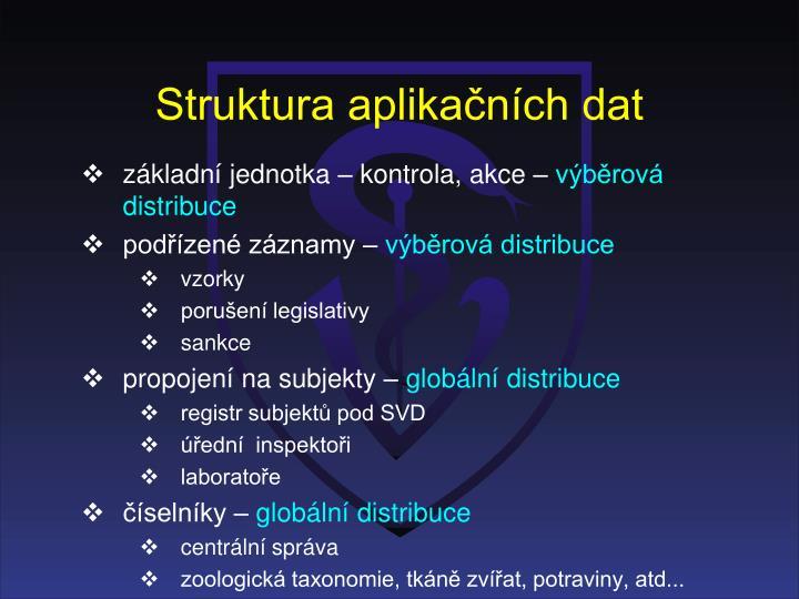 Struktura aplikačních dat