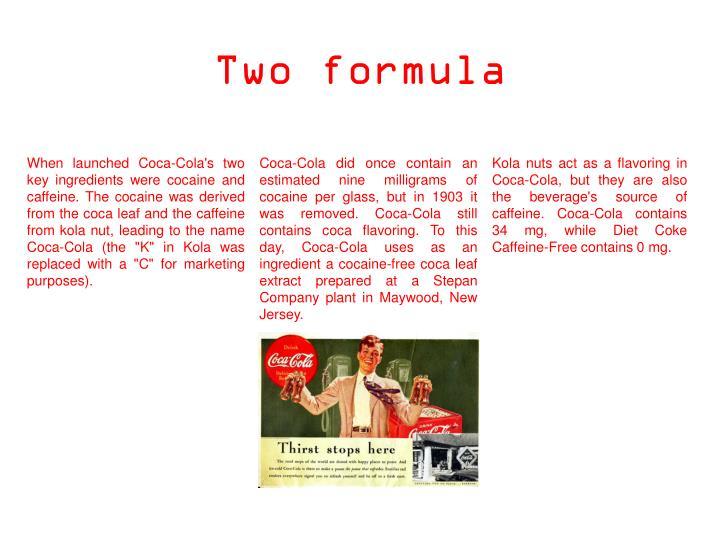 Two formula