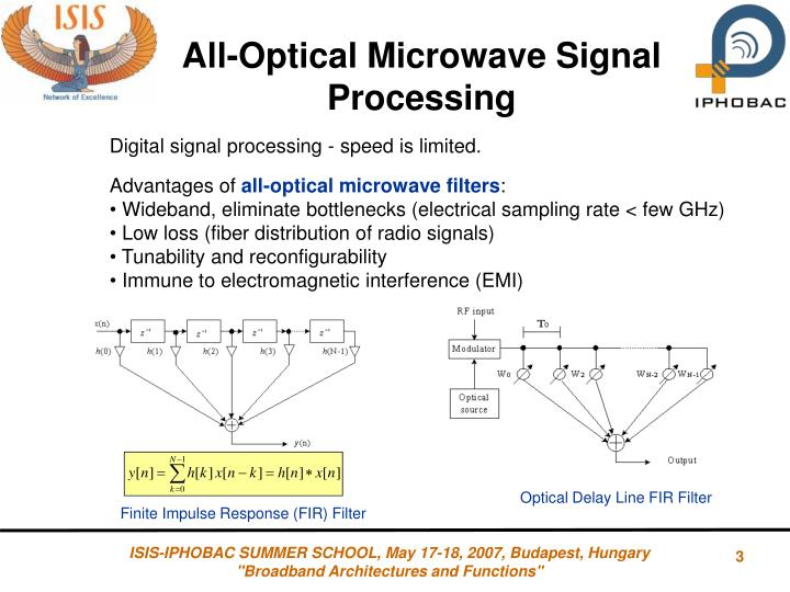 All-Optical Microwave Signal Processing