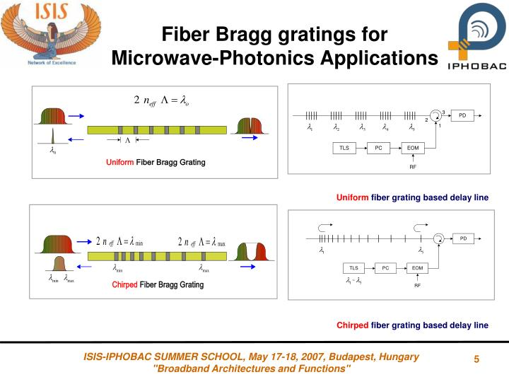 Fiber Bragg gratings for Microwave-Photonics Applications