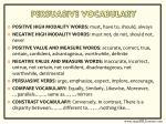 persuasive vocabulary
