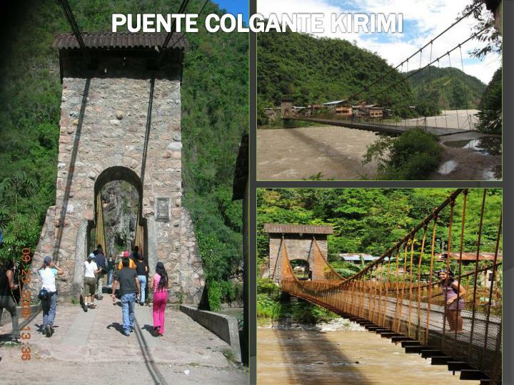 Puente colgante kirimi