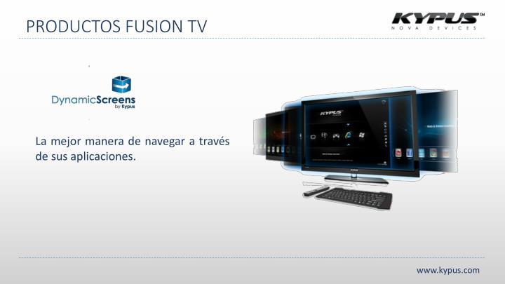 PRODUCTOS FUSION TV