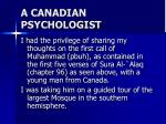 a canadian psychologist