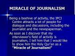 miracle of journalism