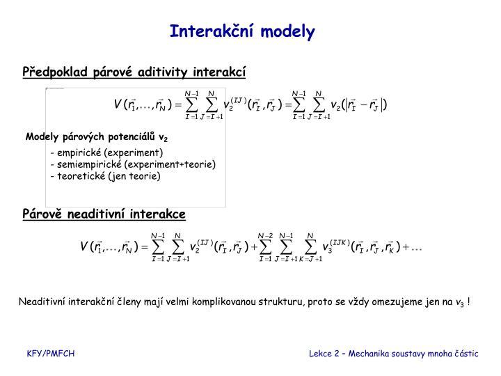 Interakční modely