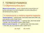 7 termodynamika 7 3 objemov pr ca plynu