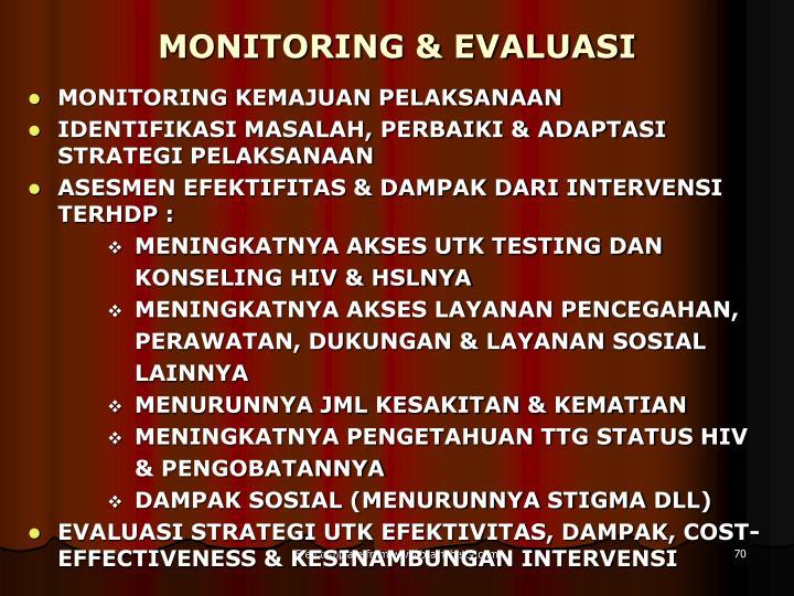 MONITORING & EVALUASI