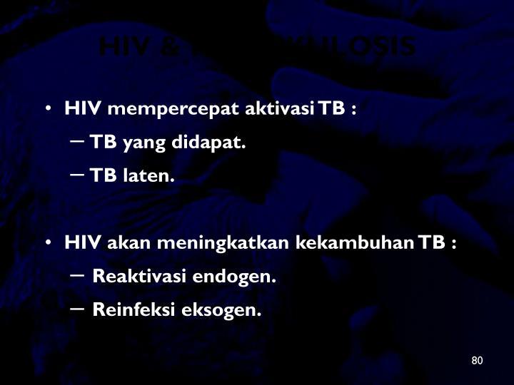 HIV & TUBERKULOSIS