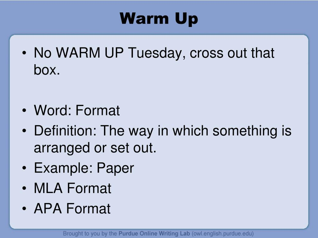 what is mla format definition