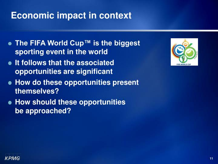 Economic impact in context