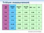 tritium measurement