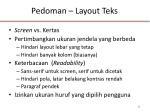 pedoman layout teks