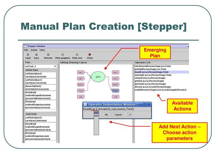 Manual Plan Creation [Stepper]