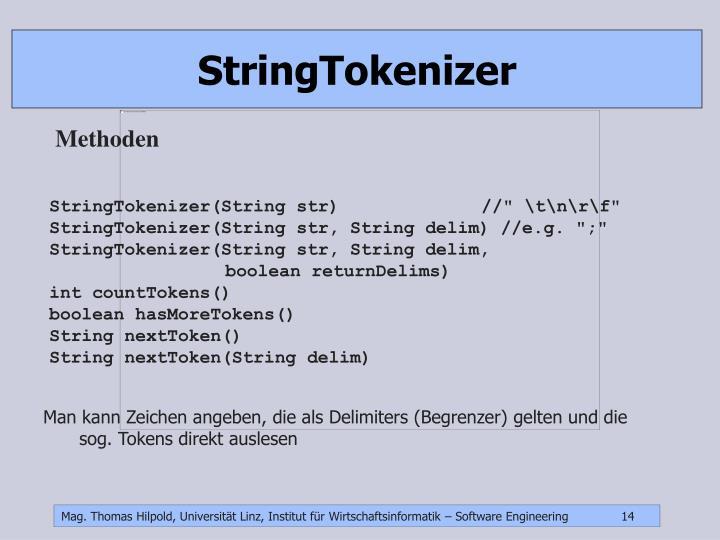 StringTokenizer