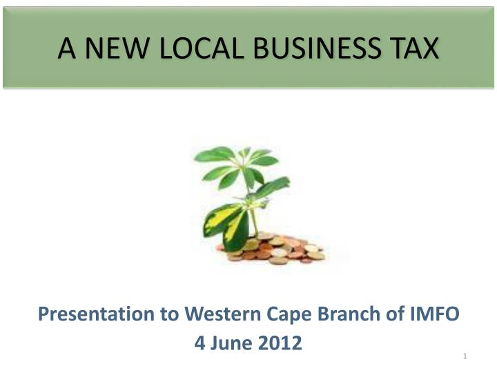 a new local business tax n.