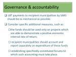 governance accountability