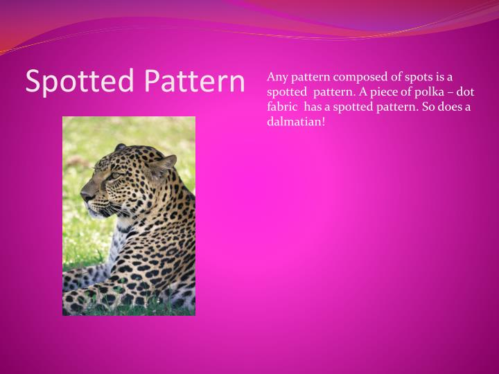 Spotted pattern