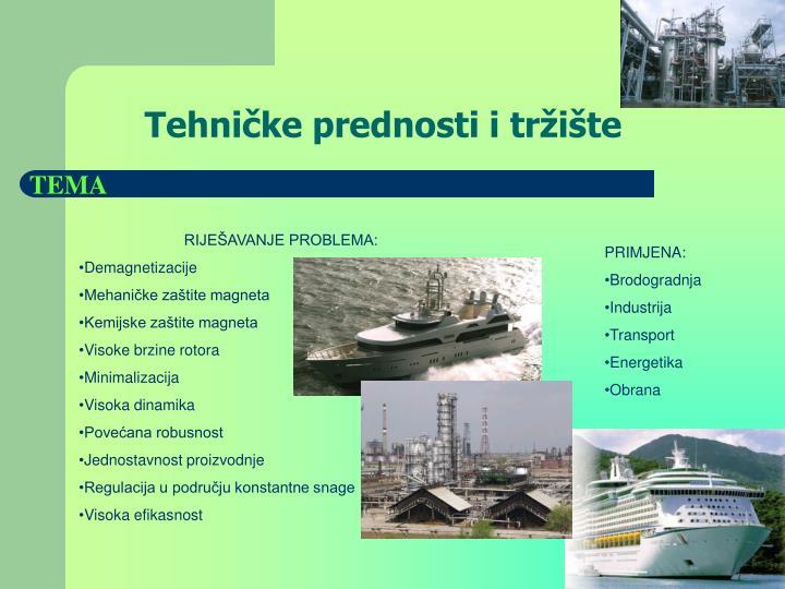Tehničke prednosti i tržište
