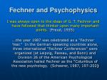 fechner and psychophysics