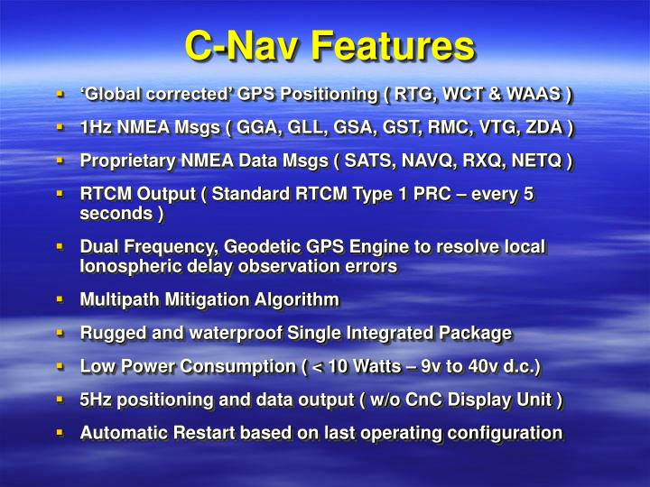 C-Nav Features