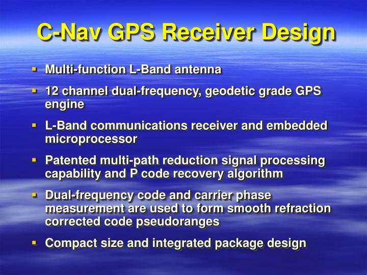 C-Nav GPS Receiver Design