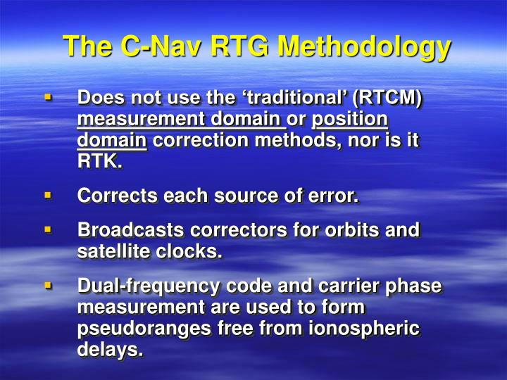 The c nav rtg methodology