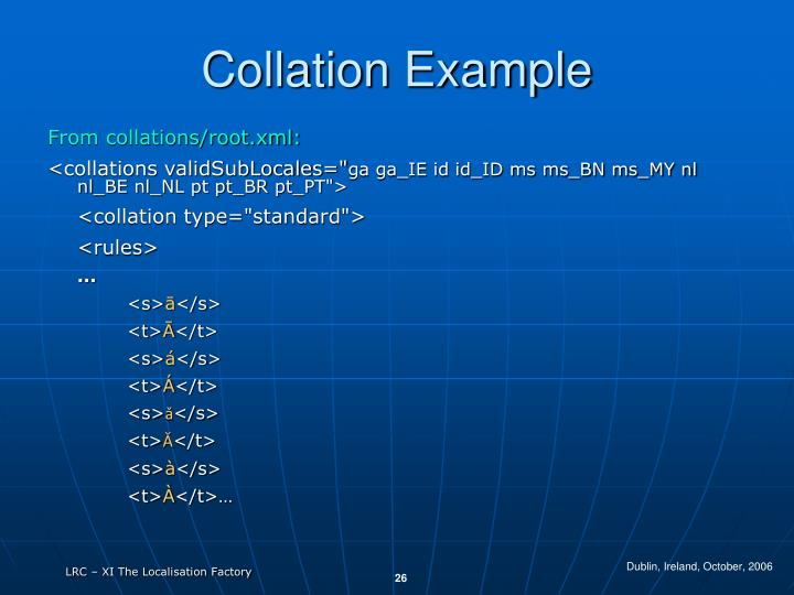 Collation Example