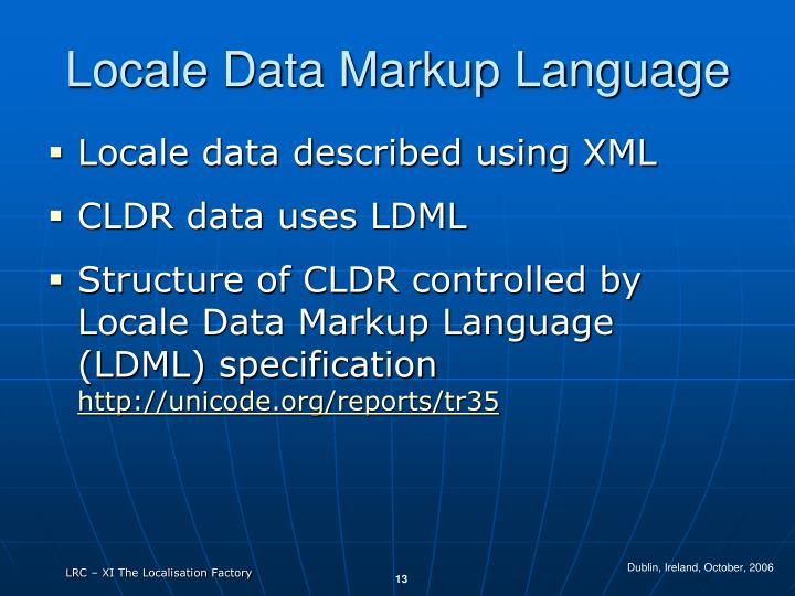 Locale Data Markup Language