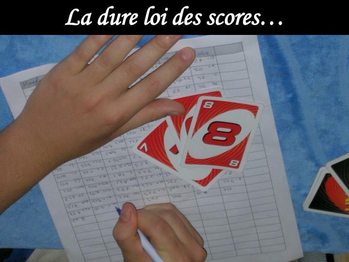 La dure loi des scores…