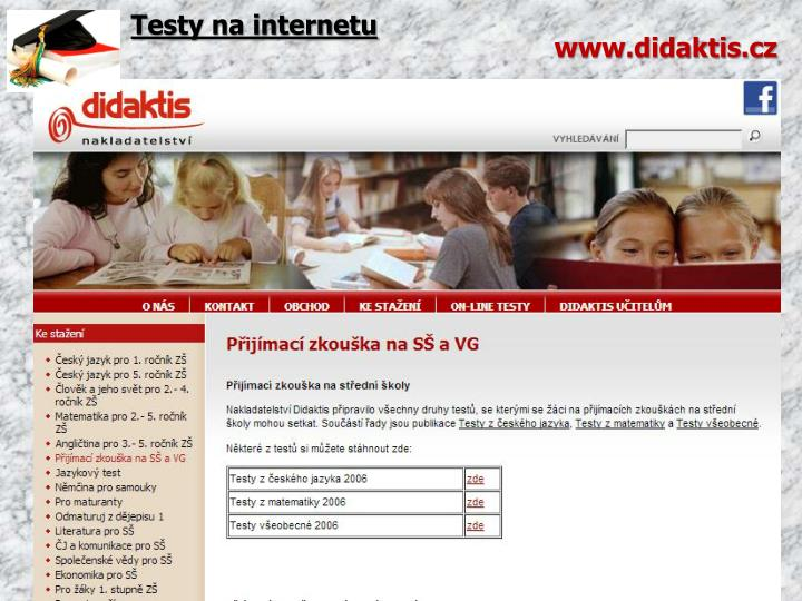 Testy na internetu