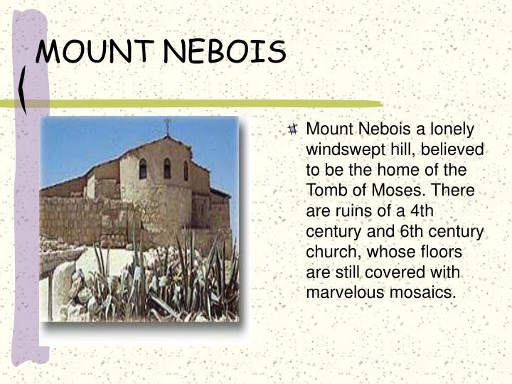 MOUNT NEBOIS