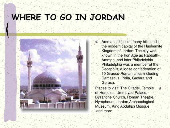 Where to go in jordan