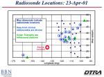 radiosonde locations 23 apr 01