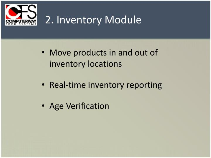 2. Inventory Module