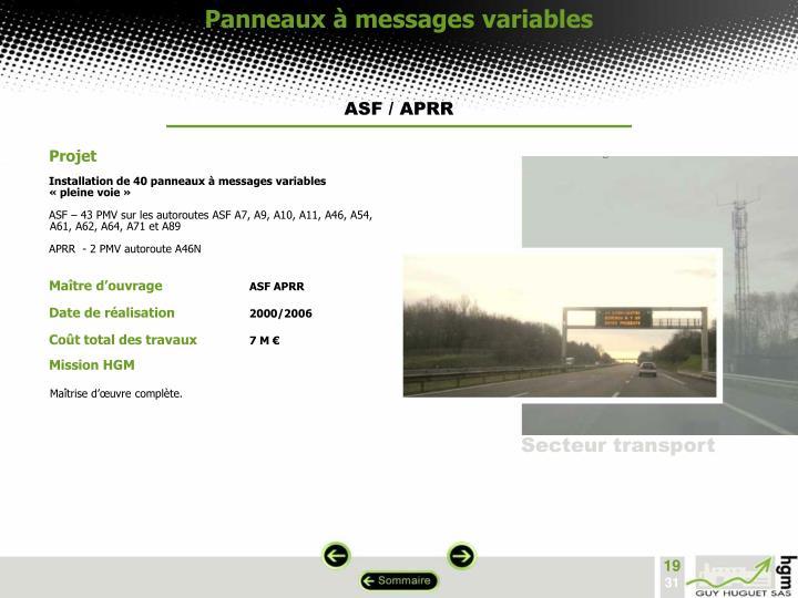 Panneaux à messages variables
