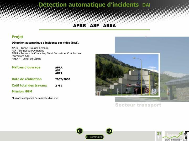 Détection automatique d'incidents