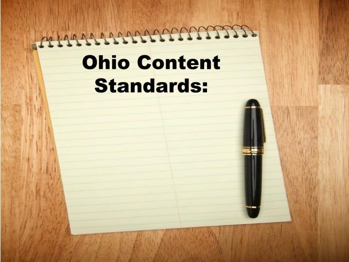 Ohio content standards