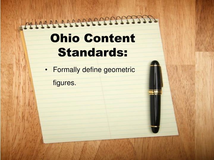 Ohio content standards1