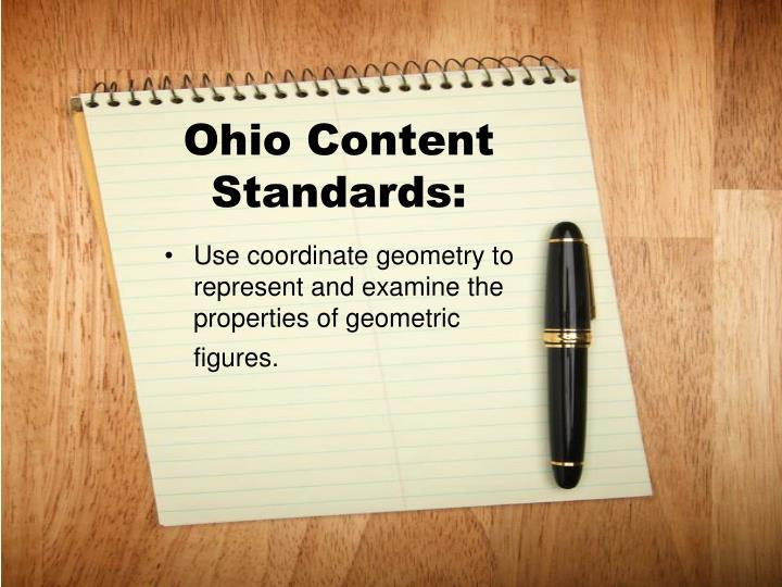 Ohio Content Standards: