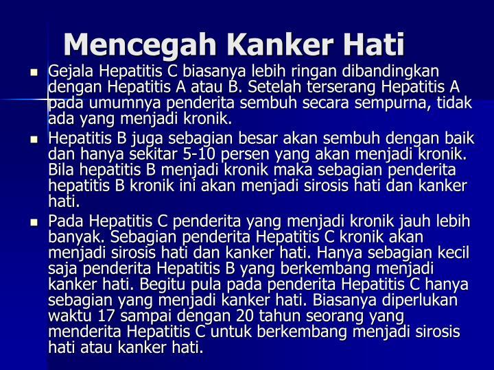 Mencegah Kanker Hati