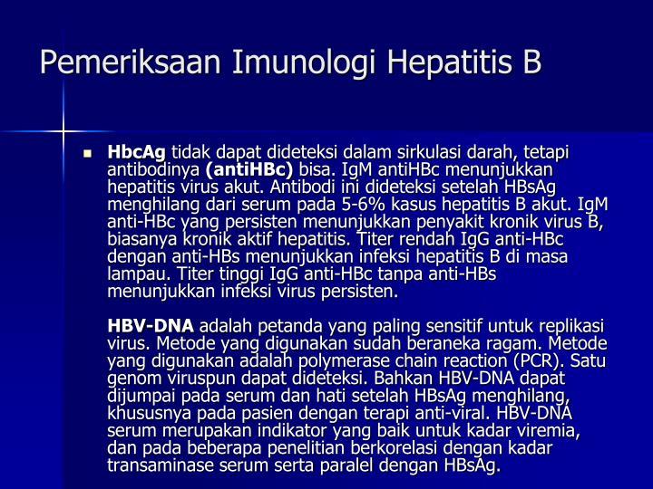 Pemeriksaan Imunologi Hepatitis B