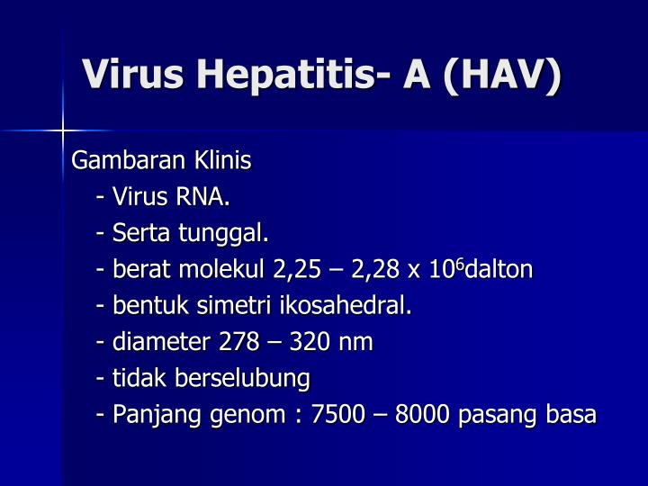 Virus Hepatitis- A (HAV)