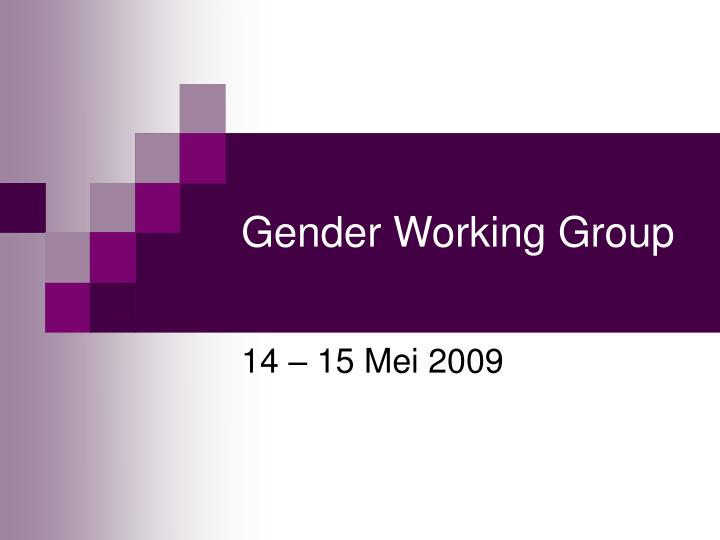 Gender working group