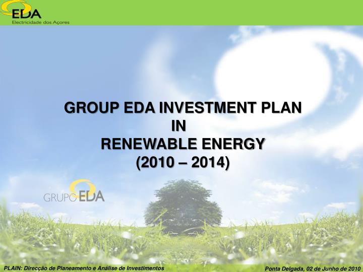 GROUP EDA INVESTMENT PLAN