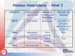 n cleos hospitalares n vel i6