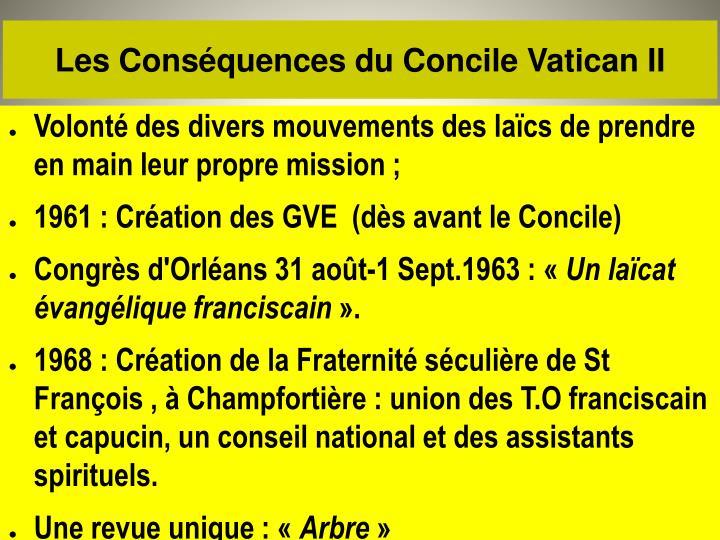 Les Conséquences du Concile Vatican II