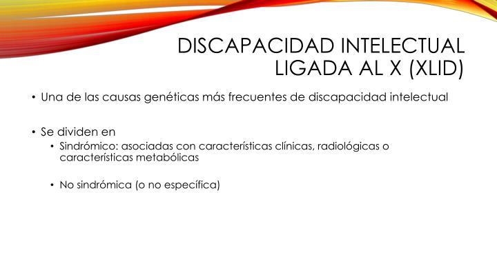 Discapacidad intelectual ligada al x (XLID)
