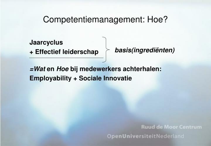 Competentiemanagement: Hoe?